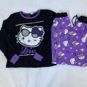 Hello kitty pyjamas sets for girls 12-13 y